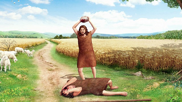 旧約聖書『創世記』第4章におけるカインとアベルの物語。カインとアベルは、アダムとエバの息子たちで兄がカイン、弟がアベルである。罪でカインはアベルを殺した。