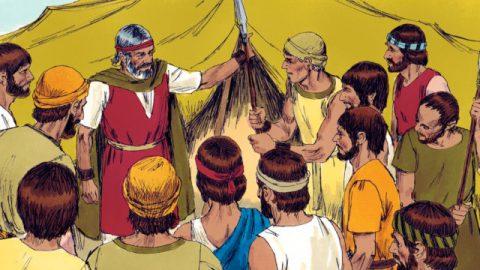 モーセは斥候を遣わしてカナンの地を探らせた