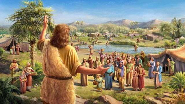 バプテスマのヨハネが荒野で福音を宣べて伝えた