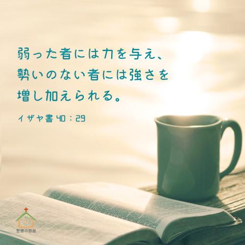 聖書の部屋ー主からの力