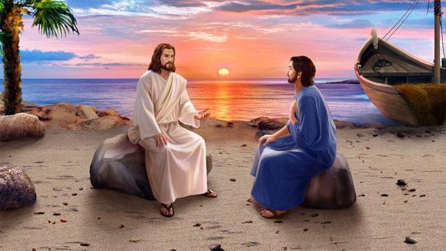復活後のイエス,弟子,対する言葉,ペテロ