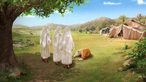 神がアブラハムに息子を与える約束をする