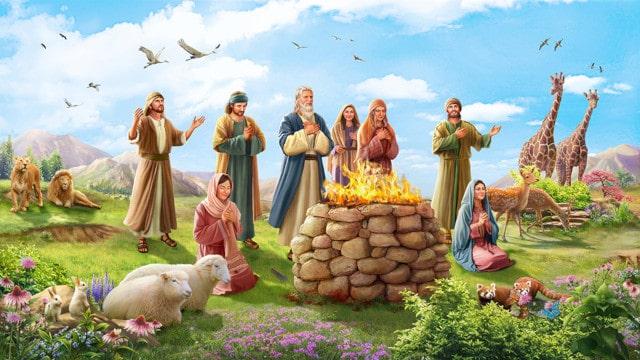 神の祝福,洪水後,ノア