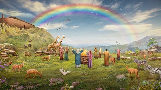 神と人間,契約,虹,洪水