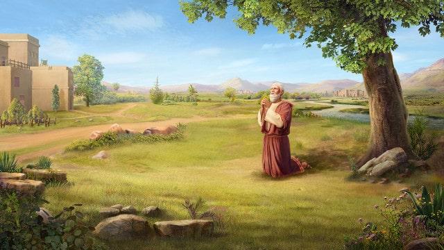 ヨブが地に伏して拝した,祈り
