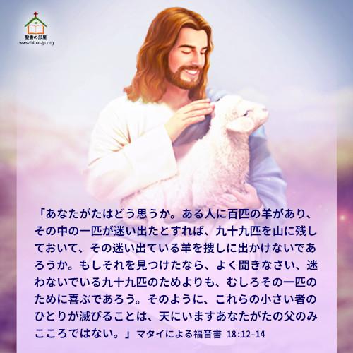 聖句カード,マタイによる福音書,迷った羊のたとえ