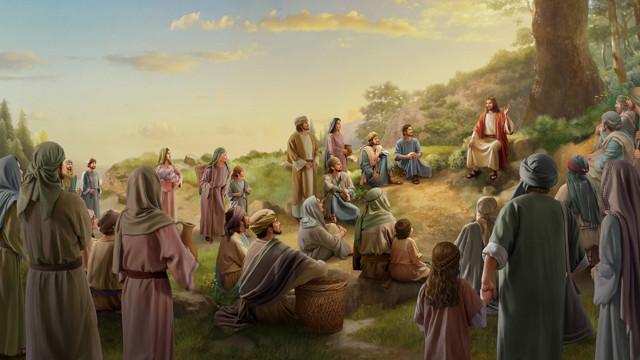 山上での説教,イエスと弟子