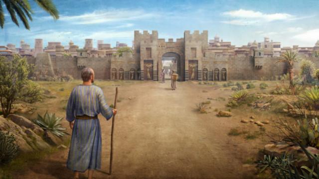 ヤーウェ神の警告,ニネベ,ヨナはニネベに行き