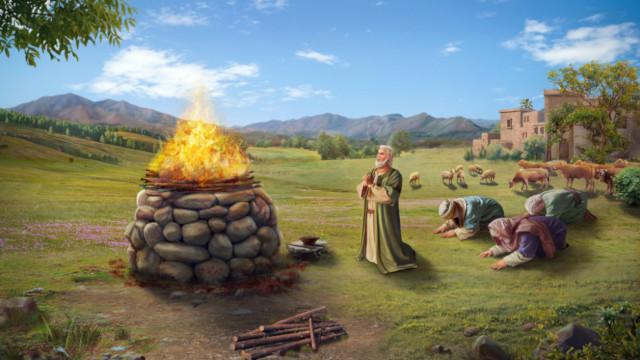 ヨブがその友人たちのために祈った,神はヨブに権威を授ける
