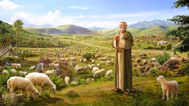 ヨブ,神の名前を称え,祝福を受ける,災いに遭う