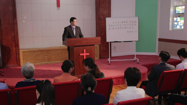 牧師が私たちの教会に説教をしにやってきました