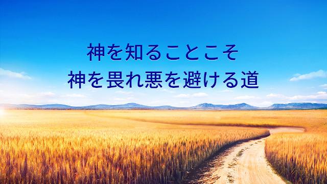 神を知ることこそ神を畏れ悪を避ける道