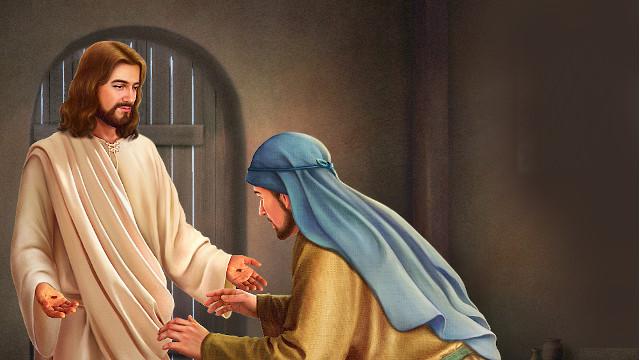 イエスは信じないトマスに現れる